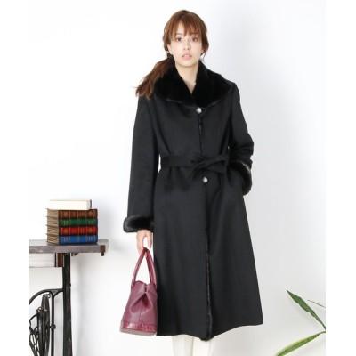 三京商会 / カシミヤ100%ロングコートミンクファー WOMEN ジャケット/アウター > その他アウター