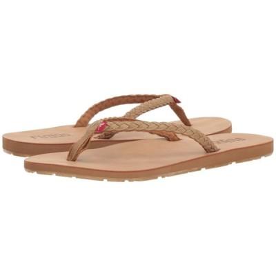 フロジョス Flojos レディース ビーチサンダル シューズ・靴 Harper Tan/Tan