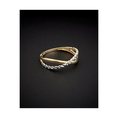 レディース アクセサリー  14K Italian Gold Two-Tone X Ring