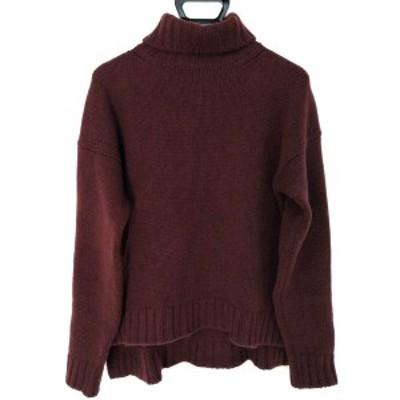 スローン SLOANE 長袖セーター サイズ2 M レディース - ボルドー タートルネック/ロングテール【中古】20210223