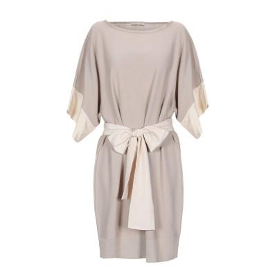 ALTEЯƎGO ミニワンピース&ドレス ベージュ 42 コットン 100% ミニワンピース&ドレス