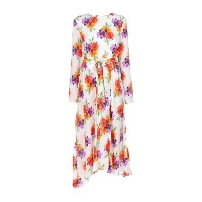 エムエスジーエム MSGM 7分丈ワンピース・ドレス アイボリー 38 シルク 100% 7分丈ワンピース・ドレス