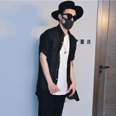 メンズ チェックコート ステンカラーコート スプリングコート 長袖 シャツコート カジュアル 無地 薄手 麻棉ジャケット トップス 大きいサイズ 春新作