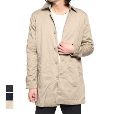 コート ステンカラーコート ライトアウター ストレッチツイル ベーシック アウター メンズ ベージュ ブラック ネイビー SALE セール