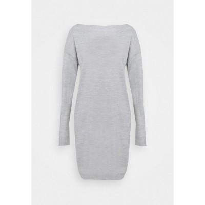 オンリー トール ワンピース レディース トップス ONLAMALIA DRESS TALL - Jumper dress - light grey melange
