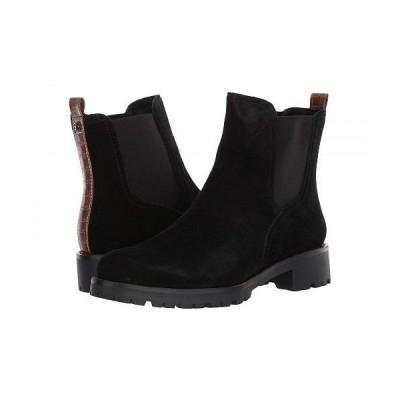 Sam Edelman サムエデルマン レディース 女性用 シューズ 靴 ブーツ チェルシーブーツ アンクル Jaclyn - Black Waterproof Velour Suede Leather