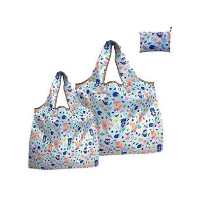 【2点セット】エコバッグ 折りたたみ 買い物袋 コンパクト 大きめ 小さめ ナイロン