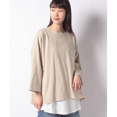【サマンサ モスモス】 レイヤードゆるロングTシャツセット レディース ベージュ F Samansa Mos2