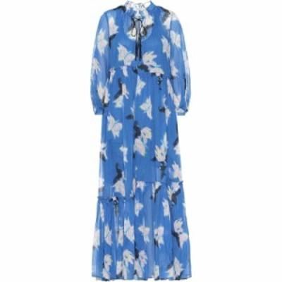 ドロシー シューマッハ Dorothee Schumacher レディース ワンピース マキシ丈 ワンピース・ドレス Energetic Mix cotton maxi dress Blue