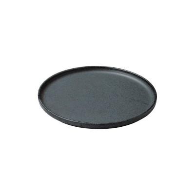 【取り寄せ商品】CARITA カリタ 6.0丸浅口切立皿 黒滴(こくてき)【日本製】 18600838