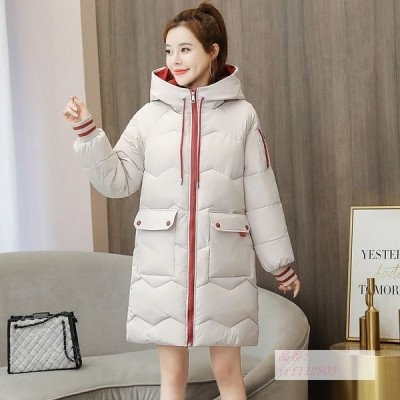 ダウンジャケット 2020 冬 新しい 韓国風 韓風 ピッタリ レディースミドル丈 中綿 コート 学生 綿入れ 大きいサイズ 綿の服 綿入れ ゆるい