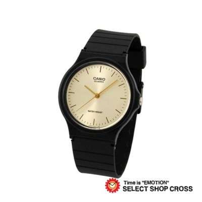 CASIO チープカシオ チプカシ 安い かわいい アナログ スタンダード ラウンド ゴールド MQ-24-9E 腕時計 おしゃれ ゆうパケット対応 ポイント消化