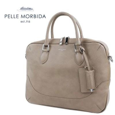 PELLE MORBIDA BRIEF BAG ペッレ モルビダ ショルダー付き 1ROOM ブリーフバッグ PMO-CA002(トープ)