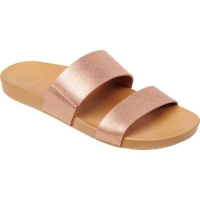 リーフ Reef レディース サンダル・ミュール シューズ・靴 Cushion Vista Slide Rose Gold Synthetic