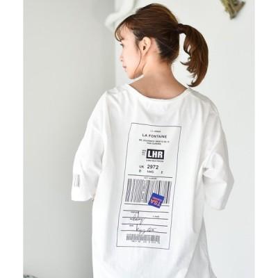 tシャツ Tシャツ ビッグシルエット バックプリントT
