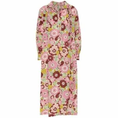 ドド バー オア Dodo Bar Or レディース ワンピース シャツワンピース ワンピース・ドレス Floral cotton shirt dress Pink