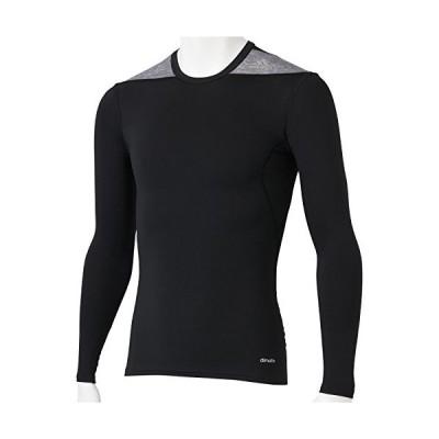 アディダス adidas M TF BASE ロングスリーブシャツ AJ451 D82015 ブラック ミディアムグレイヘザー J2XO