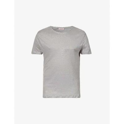 オールバー ブラウン ORLEBAR BROWN メンズ Tシャツ トップス Crewneck linen T-shirt DOVE