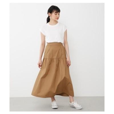スカート ギャザーマキシスカート