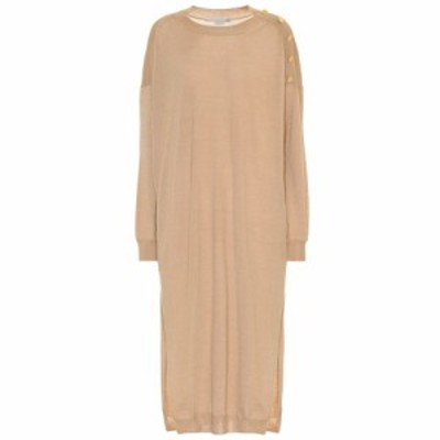 ステラ マッカートニー Stella McCartney レディース ワンピース ワンピース・ドレス Wool and silk midi dress Light Basic