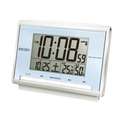 SEIKO セイコー デジタル電波時計(温度・湿度表示つき) SQ698L