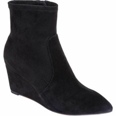 スプレンディッド Splendid レディース ブーツ ウェッジソール シューズ・靴 Platt Pointed Toe Wedge Bootie Black Suede/Stretch Micro