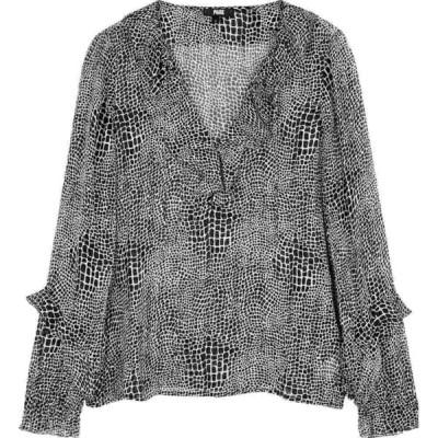 ペイジ Paige レディース ブラウス・シャツ トップス Robin Crocodile-Print Silk-Chiffon Blouse Black