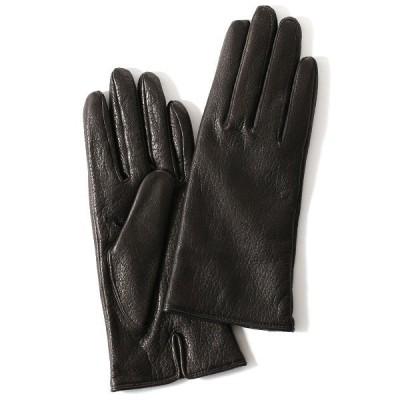 手袋 レディース ブランド 本革 カシミア ブラック 黒 黒色 日本製 レザー 婦人 女性用 国産 グローブ