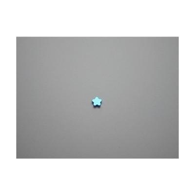 新潟 燕三条 純チタンピアス 片耳 フラワー花 ブルー 青  金属アレルギーの方も安心