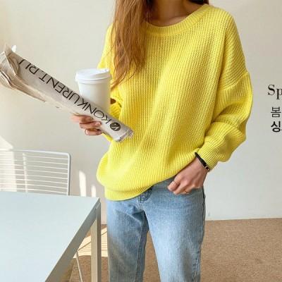 怠惰なスタイルのセーターの女性のルーズアウターウェア韓国版秋/冬の新しいセータートップの女性のトレンド