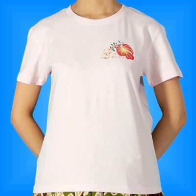 フラダンス Tシャツ L アンスリウム ピンク 537lp
