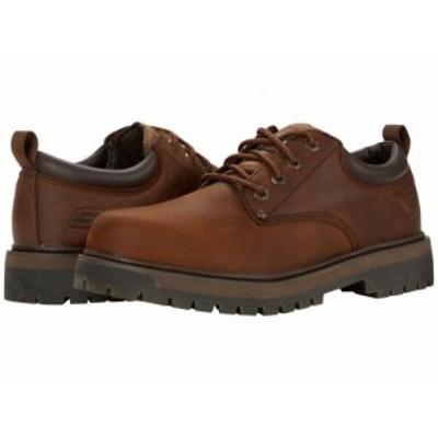 SKECHERS スケッチャーズ メンズ 男性用 シューズ 靴 オックスフォード 紳士靴 通勤靴 Alley Cats Mesago Dark Brown【送料無料】