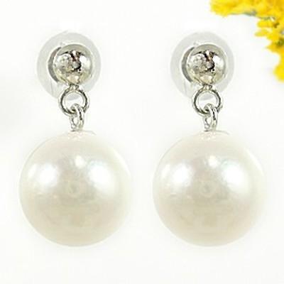 パールピアス 真珠 フォーマル あこや本真珠7.5ミリ ホワイトゴールドk18 スタッドピアス 18金 天然石 レディース 宝石 18k 送料無料
