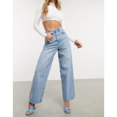 エイソス レディース デニムパンツ ボトムス ASOS DESIGN High rise 'Relaxed' dad jeans in midwash Midwash blue