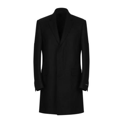 LES HOMMES コート ブラック 52 ウール 80% / ナイロン 20% コート