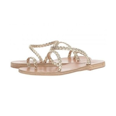 Ancient Greek Sandals レディース 女性用 シューズ 靴 サンダル Eleftheria - Platinum/Platinum Nappa