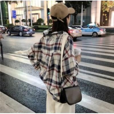C30398 秋冬新作!トレンドのレトロスタイル☆落ち著いた色味のチェックシャツ?