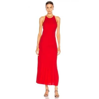 ロゼッタゲティー Rosetta Getty レディース ワンピース スリップドレス ワンピース・ドレス cross back slip dress Red
