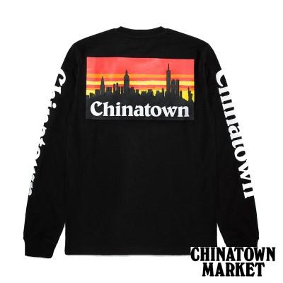 【CHINATOWN MARKET/チャイナタウンマーケット】CTM SMU LS ロングTシャツ / BLACK(L)