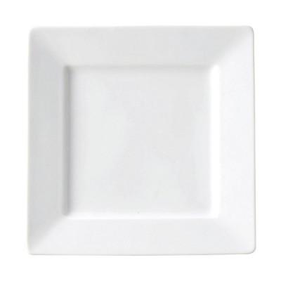 テトラ 21cm 正角皿 洋食器 正角プレート(M) 業務用 カネスズ 約20.8cm デザート 前菜 オードブル