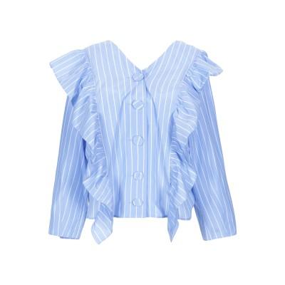 STEVE J & YONI P シャツ ブルー S 100% コットン シャツ