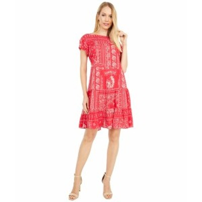 ダブルディランチウェア レディース ワンピース トップス Picnic Bandana Dress Rodeo Red