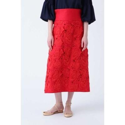 ADORE / アドーア 《BLACK LABEL》フラワーエンブロイダリースカート