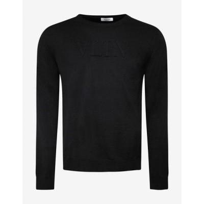 ヴァレンティノ Valentino メンズ ニット・セーター トップス Black VLTN Logo Wool Sweater Black