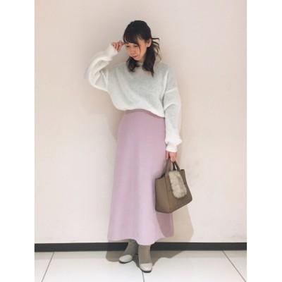 【テチチ/Te chichi】 ピーチビエラAラインスカート