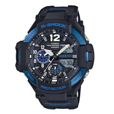 Gショック ジーショック 防水 黒 ブラック×ブルー 腕時計