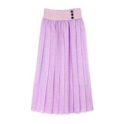 【ローズバッド】 シアーチェックカラースカート レディース パープル - ROSE BUD