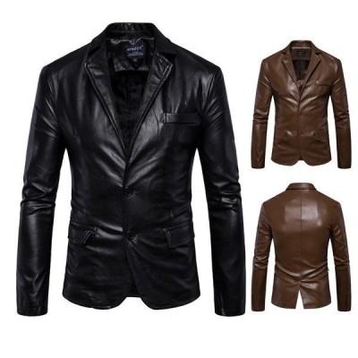 レザーブレザー メンズ 革ジャン テーラードジャケット レザージャケット 革コート 皮コート 紳士服 アウター おしゃれ