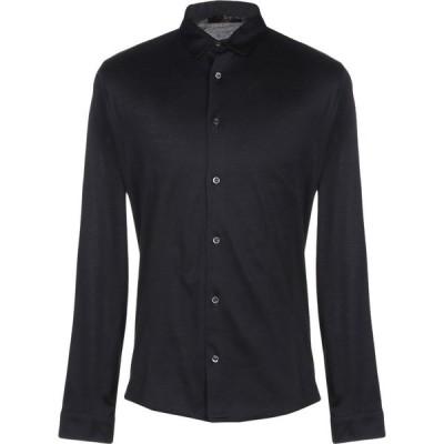 ムーレー MOORER メンズ シャツ トップス solid color shirt Dark blue