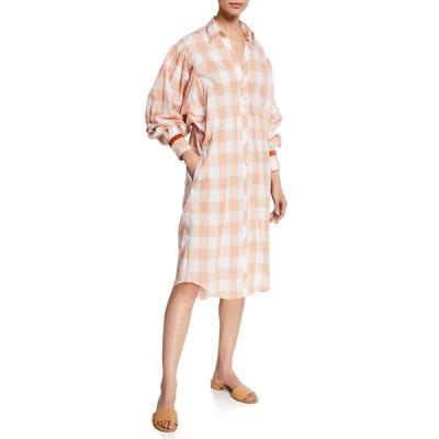 ジョアンナオッティ レディース ワンピース トップス Seasonal Shades Plaid 1/2-Sleeve Shirtdress